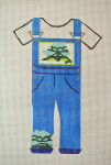 Waterweave CO1405 Turtle Overalls 18 mesh 4 x 6 hanger and stitch guide included