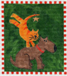 Waterweave C610 Holiday Cat and Dog 18 mesh 6 x 7