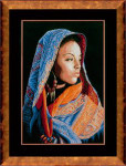 "PN149998 Lanarte Kit African Lady 12"" x 18""; Aida - Black; 14ct"