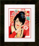 "PN150000 Lanarte Kit Asian Flower Girl 11"" x 14""; Aida; 14ct"