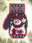 MHCM53 Mill Hill Charmed Ornament Kit Snowman's Garden (2005)