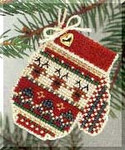 MHCM7 Mill Hill Charmed Ornament Kit Warm & Wooly Mitten (2004)