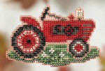 MH184204 Mill Hill  Seasonal Ornament Kit Grandpa's Tractor (2014)