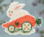 MH184106 Mill Hill Seasonal Ornament Kit Rabbit Ride (2014)