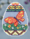 MH184102 Mill Hill Seasonal Ornament All BEADED Kit Butterfly Egg (2014)