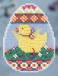 MH184105 Mill Hill Seasonal Ornament / Pin Kit ALL BEADED Chick Egg (2014)