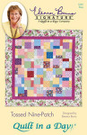 Tossed Nine Patch wallhanging 56 x 56 lap 56 x 72 twin 76 x 106 queen 90 x 106 king 106 x 106 Quilt In A Day