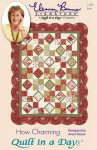 How Charming table topper- 40 x 40 lap 54 x 70 Quilt In A Day