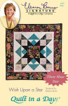 Wish Upon A Star Quilting  wallhanging print-43 square wallhanging scallop-41 square Quilt In A Day