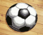 "PNV14368 Vervaco Latch Hook Kit Soccer Rug 28""; Canvas; 18ct"
