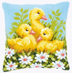 "PNV146248 Vervaco Kit Ducklings with Daisies 1	16"" x 16"" Canvas"