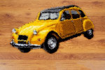 "PNV149512 Vervaco Latch Hook Kit Vintage Yellow Car Rug 27"" x 16""; Canvas; 18ct"