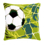 "PNV150043 Vervaco Kit Soccer Pillow 16"" x 16""; Canvas; 18ct"