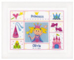"PNV148605 Vervaco Kit Princess 11"" x 8"" Aida 14ct"