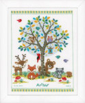 "PNV149396 Vervaco Kit In the Woods 11"" x 14"" Aida 14ct"
