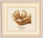 """PNV11671 Vervaco Kit Tiny Feet7"""" x 6"""" Aida  18ct"""