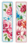 "PNV150899 Vervaco Kit Flowers and Butterflies I Bookmarks (set of 2) 2"" x 8"" Aida 14ct"
