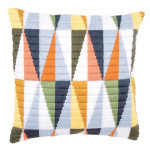 "PNV147911 Vervaco Kit Triangles Pillow 16"" x 16"" Canvas 8ct"