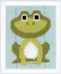 "PNV148072 Vervaco Kit Frog 5"" x 6"" Printed Canvas"