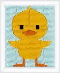 "PNV148071 Vervaco Long Stitch Kit Duckling 5"" x 6"" Printed Canvas"