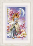 "PNV148079 Vervaco Kit Butterfly Fairy 9"" x 14"" Aida Count: 14ct"