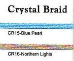 Rainbow Gallery  Crystal Braid CR15 Blue Pearl