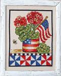 14-1659 Patriotic Geranium 84w x 112h Bobbie G Designs YT