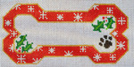 BP-04 BP DESIGNS Red Snow Flake Bone Ornament 6 ½ x 3 ¾ 18 Mesh