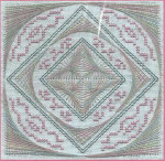 Diamonds In The Round  56w x 56h Freda's Fancy Stitching  Pattern Only