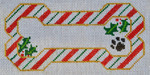 BP-02 BP DESIGNS Candy Cane Bone Ornament 6 ½ x 3 ¾ 18 Mesh