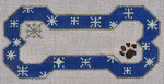 BP-03 BP DESIGNS Blue Snow Flake Bone Ornament 6 ½ x 3 ¾ 18 Mesh