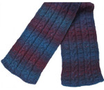 P-J-070 Jojoland Knitting Pattern Blue Corcus Scarf