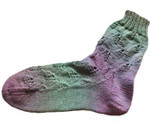 P-J-076 Jojoland Knitting Pattern Easter Lily Sock