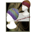 P-J-045 Jojoland Knitting Pattern Spiral Cable Hat