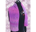 P-J-035 Jojoland Knitting Pattern Grass Pink Scarf