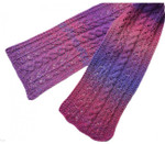 P-J-063 Jojoland Knitting Pattern Stream Orchid Scarf