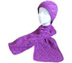 P-J-042 Jojoland Knitting Pattern Flower Bed Scarf & Hat