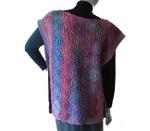 P-J-015 Jojoland Knitting Pattern Swirl Vest