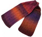 P-J-061 Jojoland Knitting Pattern Flaming Pine Scarf