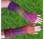 P-J-019 Jojoland Knitting Pattern Fun Fan Gauntlet