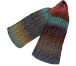 P-J-056 Jojoland Knitting Pattern Double Cable Scarf