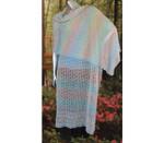 P-HC04-01 Jojoland Knitting Pattern Lace Flower Shawl/Wrap