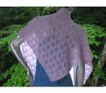 P-C266-01 Jojoland Knitting Pattern Twin Leaf Shawl