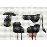 019c Cow left Mini 18 Mesh Rebecca Wood Designs