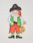 """BB 1988 Mini-Trick or Treat Kid Pirate 4"""" x 2.25"""" 18 Mesh Burnett And Bradley"""