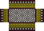 JP Designs BC064 Burgundy & Brown Ikat 10 x 14