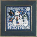 MH140304 Mill Hill Buttons and Bead Kit Frosty Snowman