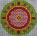 151A NEEDLEDEEVA 3 x 3 Red/Green Whirlygig 18 Mesh
