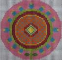 151D NEEDLEDEEVA 3 x 3 18 Mesh Amazing Pink Whirlygig