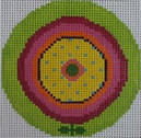 151K NEEDLEDEEVA 3 x 3 18 Mesh Bright Green Whirly Go Round